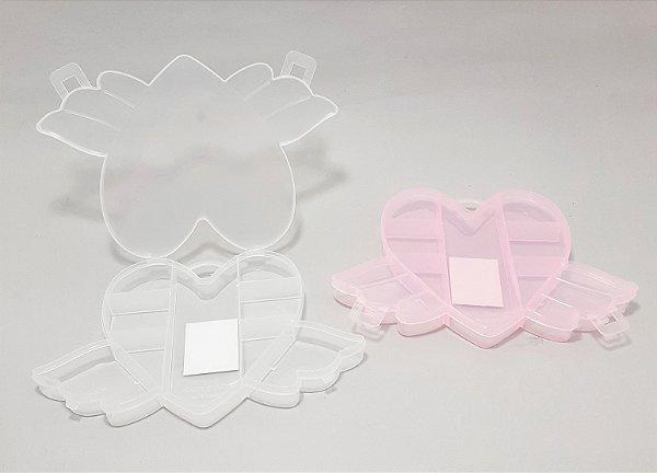 Caixinha Organizadora Multiuso De Plástico Com 9 Divisórias - Coração
