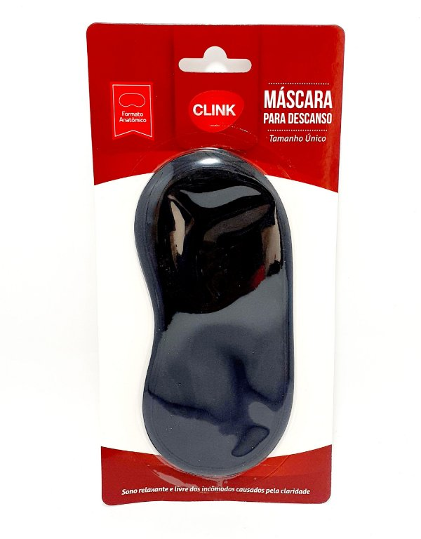 Máscara Para Descanso Preta - Clink
