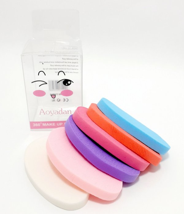 Embalagem Com 6 Esponjas Para Maquiagem - Gota Colorida