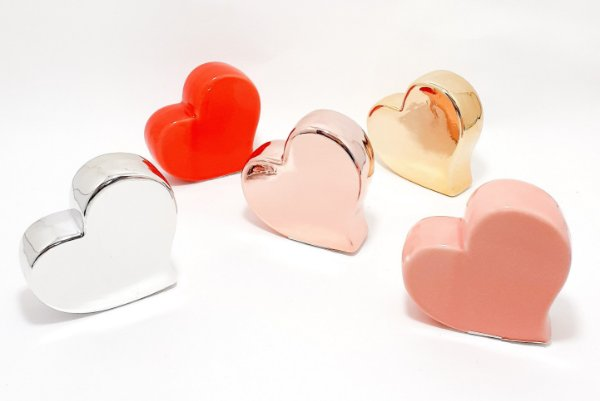 Enfeite Decorativo Médio De Cerâmica - Temático Coração