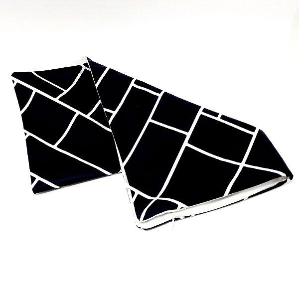 Capa Para Almofada De Tecido - Preto