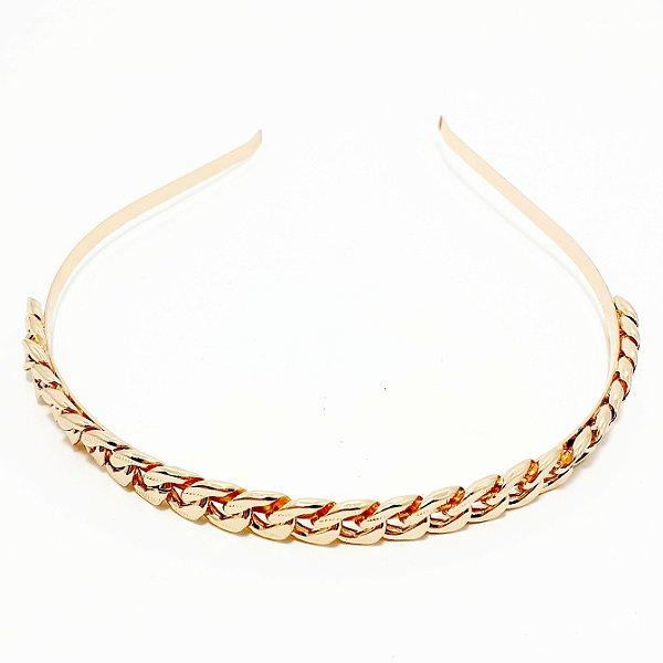 Tiara De Metal Com Arco Fino - Dourado