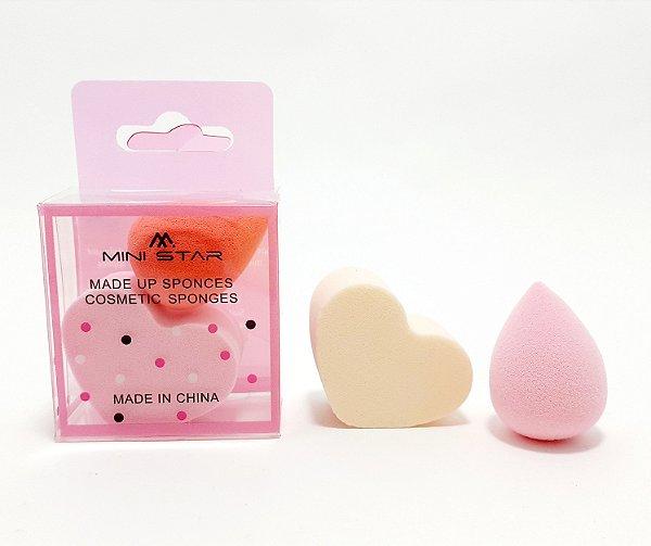 Kit Com 2 Mini Esponjas Para Maquiagem - Colorido