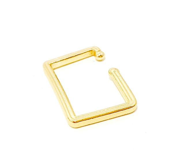 Piercing Fake Dourado - Quadrado P