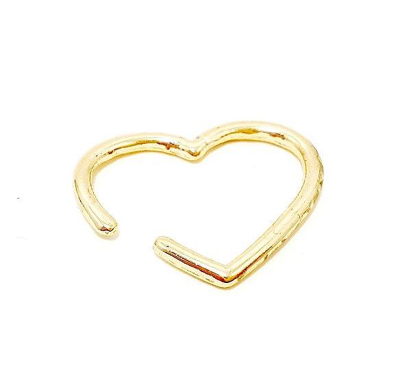 Piercing Fake Dourado - Coração G