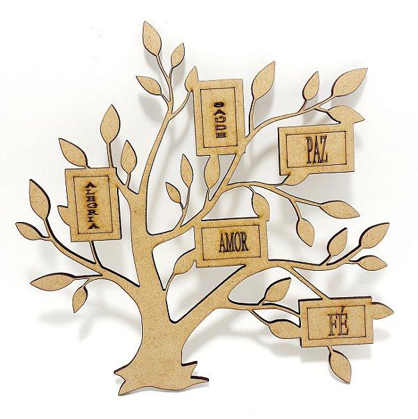Aplique De Parede MDF Cru - Árvore