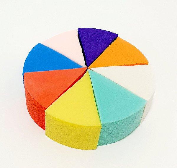 Embalagem Com 8 Esponjas Para Maquiagem Coloridas - Triangular
