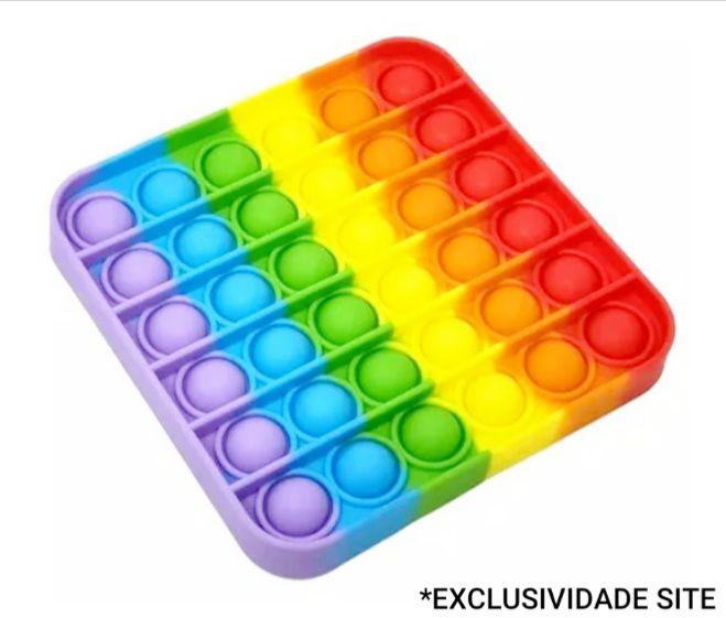 Pop It Quadrado Brinquedo Sensorial - Colorido