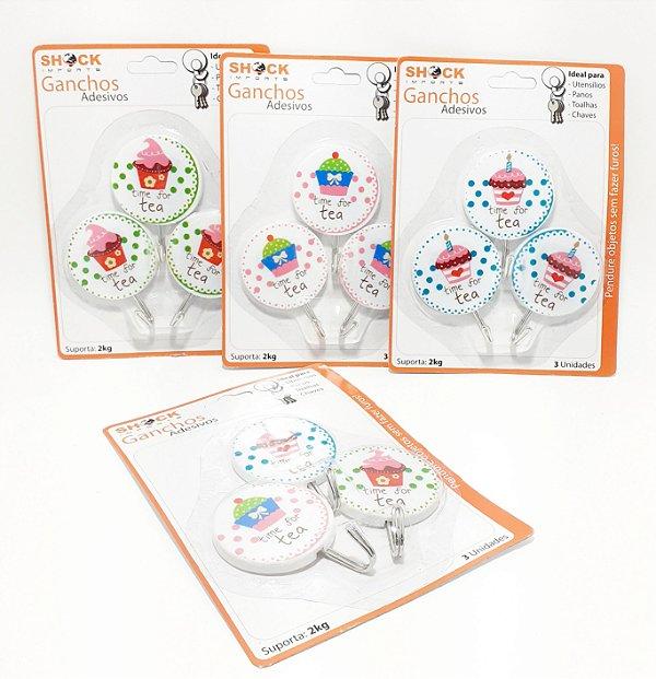 Embalagem Com 3 Ganchos Adesivo Decorativo Cupcake - Shock