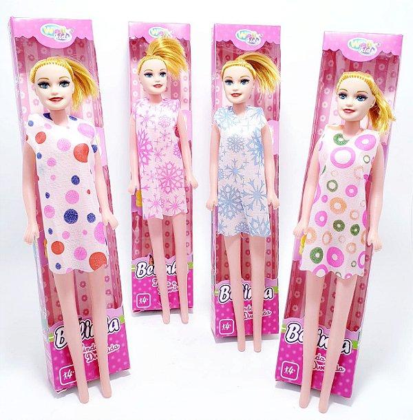 Boneca De Plástico Belinha Com Vestido - Colorido