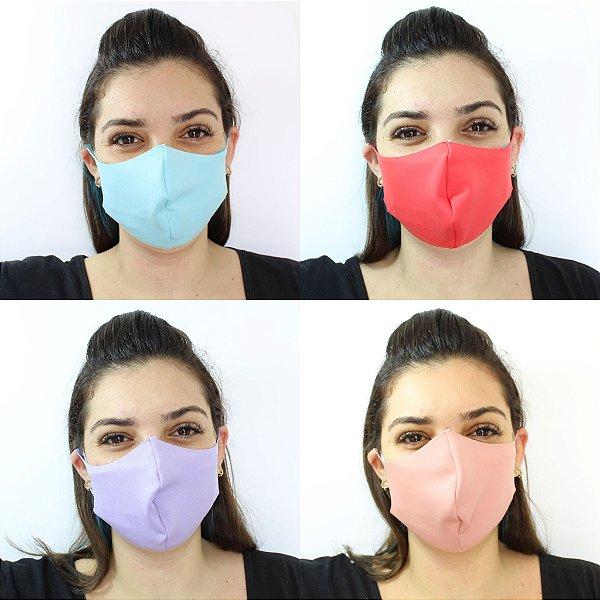 Máscara De Proteção Facial Neoprene Tons Claros - ADULTO