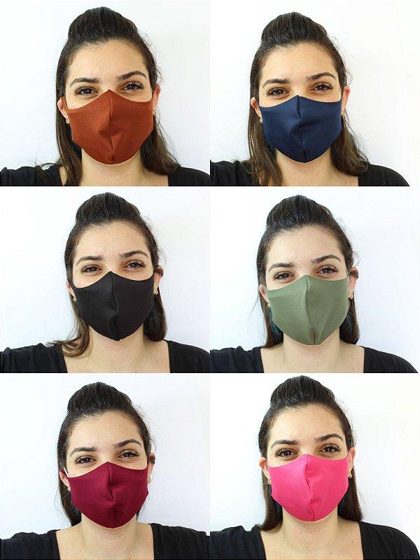 Máscara De Proteção Facial Neoprene Tons Escuros - ADULTO