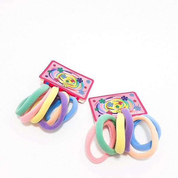 2 Kits com 6 Elásticos Rabicó Coloridos