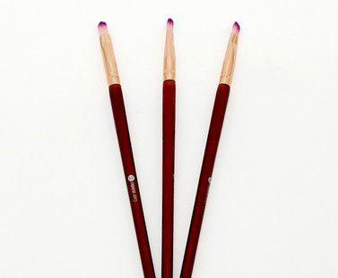 3 Pinceis De Maquiagem Para Lábios Com Cabo Marrom - Sabrina Sato