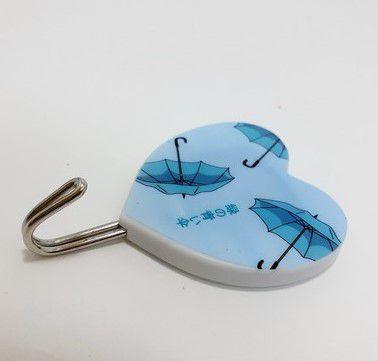 Ganchos Adesivo Decorativo De Coração Azul - Shock