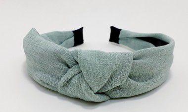 Tiara Turbante Para Cabelo De Tecido Liso - Verde