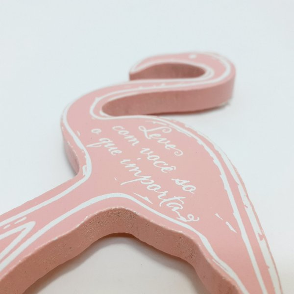 Gancho Multiuso De Madeira - Rosa - Flamingo