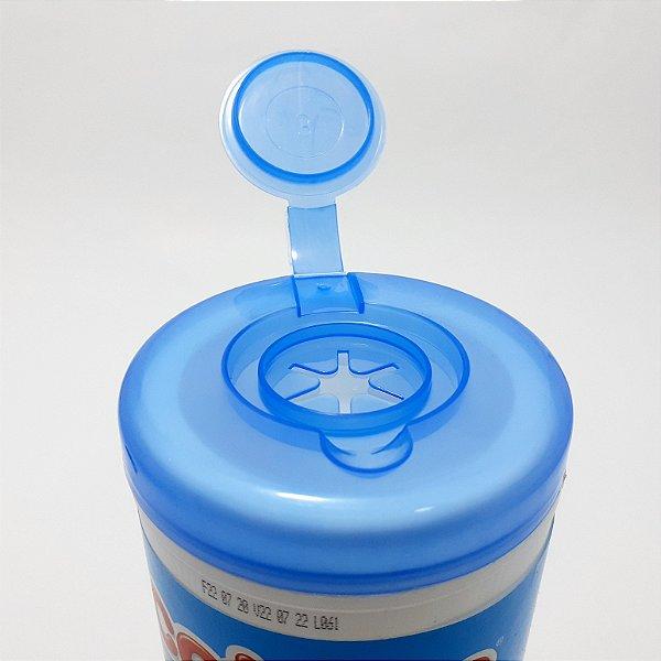Lenço Umedecido Baby Care Boy -  Pote Com 70 Unidades -   Cotton Line