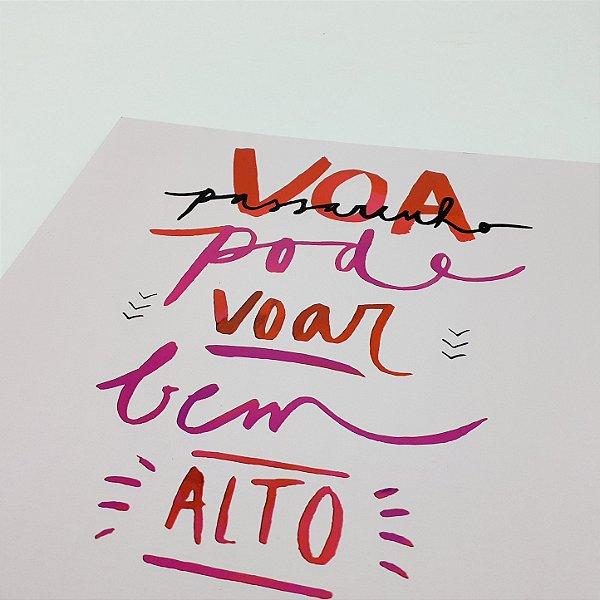 """Placa Decorativa Com Frase """" Voa Passarinho..."""""""