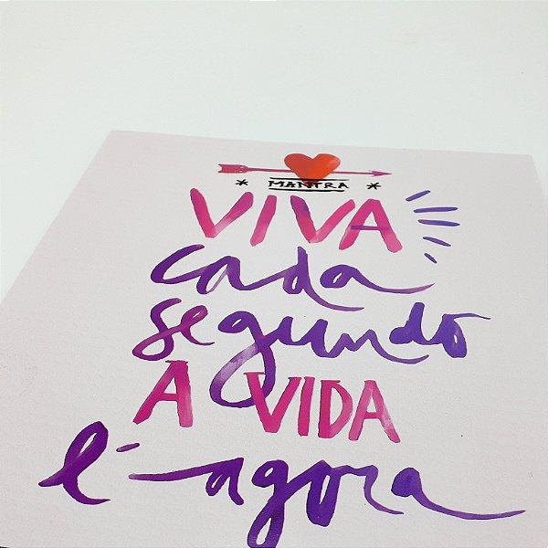 """Placa Decorativa Com Frase """"Viva Cada Segundo..."""""""