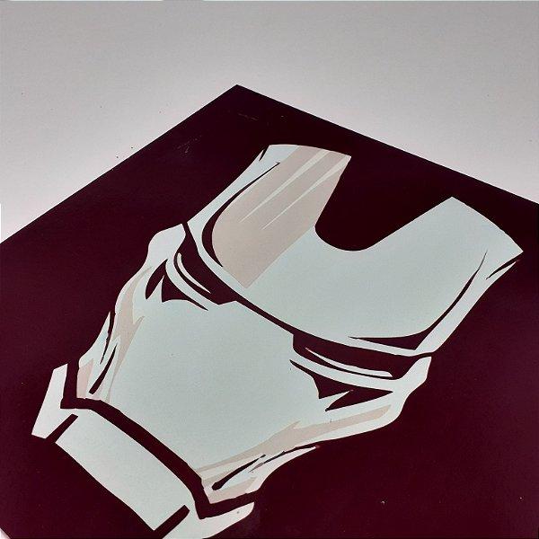 Placa Decorativa Máscara Do Homem De Ferro