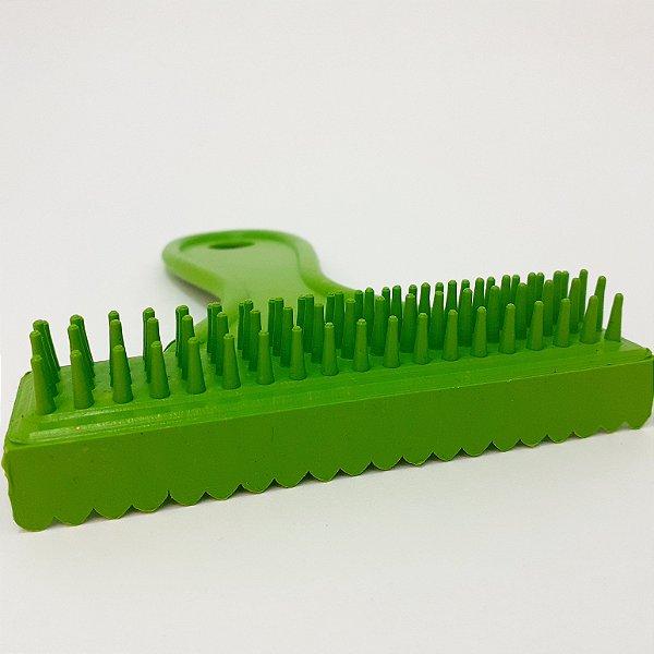 Escova E Pente De Plástico Verde Para Cães/Gato