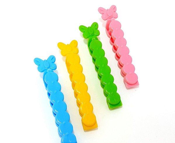 Lacre Para Embalagens Borboleta Com 4 Unidades  Colorido - Top Rio