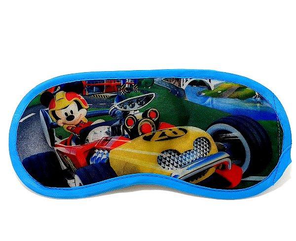 Máscara Para Dormir Infantil Personagens Mickey Aventuras Sobre Rodas - Etihome