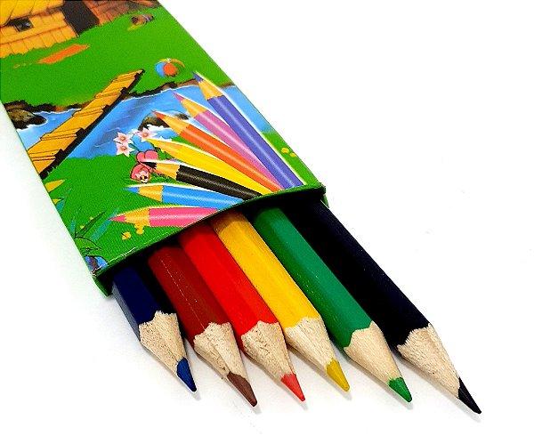 Caixa Com 6 Lápis De Cor - CX03 Verde