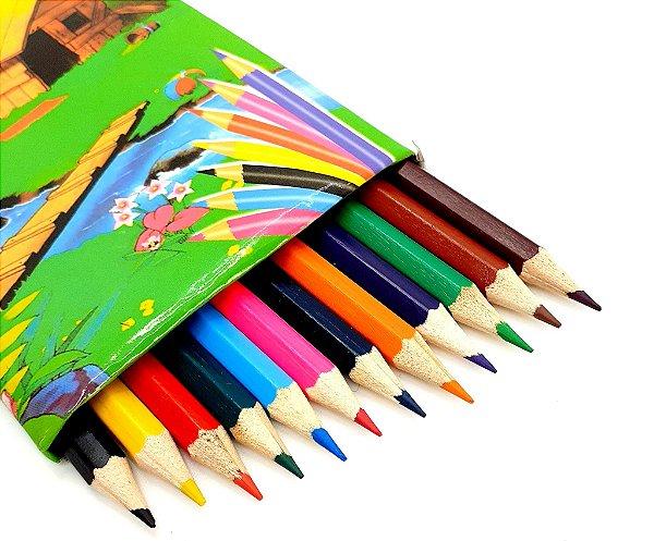 Caixa Com 12 Lápis De Cor - CX03 Verde