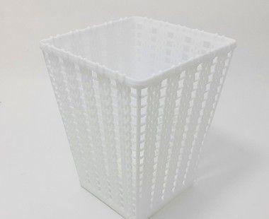 Cestinha Organizadora Trançada De Plástico - Branca