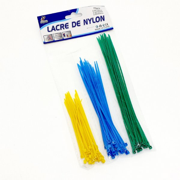 Lacre De Nylon Pacote Com 75 Peças - Seventeen  Import