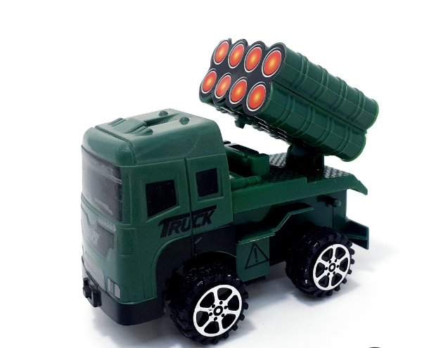 Carrinho De Brinquedo De Plástico Temático Militar - Verde