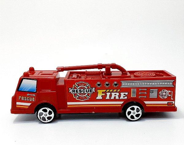 Carrinho De Brinquedo De Plástico Temático Resgate - Vermelho