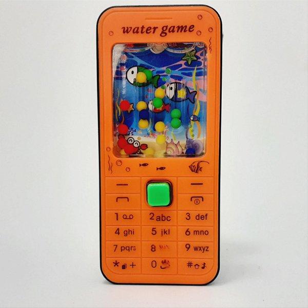 Mini Game De Água - Temático SmartPhone Laranja e Preto