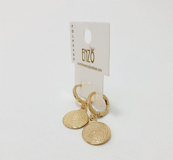 Brinco Dourado De Argolinha Pequeno - REF: PT0142