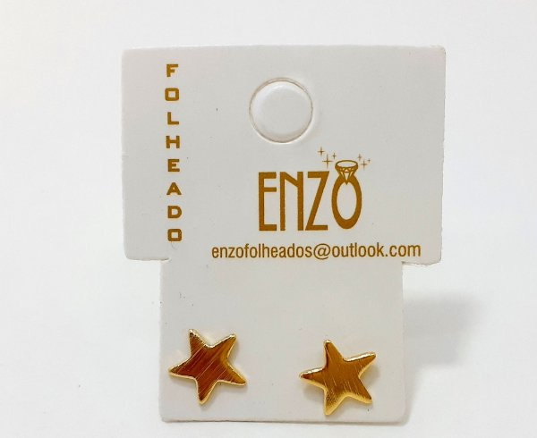 Brinco Dourado De Estrela Pequeno - REF: PT0108