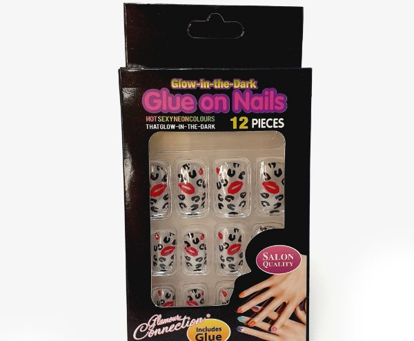 Embalagem com 12 Unhas Postiças - Beijinhos