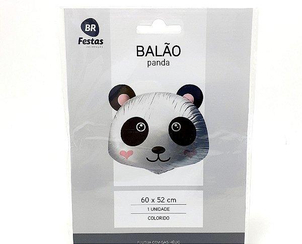"""Balão Metalizado - Temático Panda (18"""" - 45cm)"""
