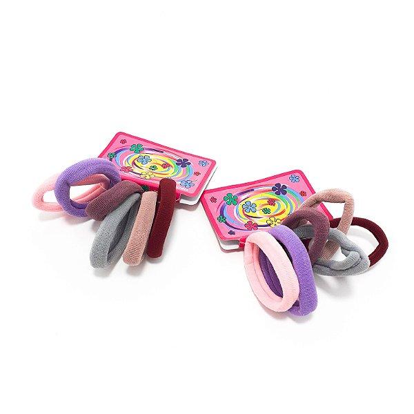2 Kits Com 6 Elásticos Rabicó Médio Coloridos