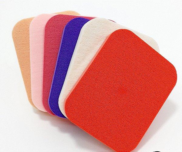 Embalagem Com 6 Esponjas Para Maquiagem - Quadrada