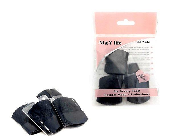 Embalagem Com 4 Mini Pincéis Para Blush - M&Y Life