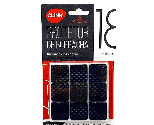 Protetor Adesivo De Borracha Quadrado Com 18 Unidades - Clink