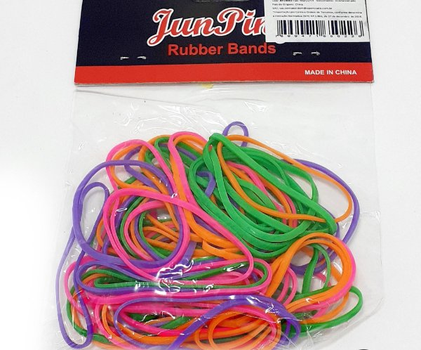 Elásticos Coloridos Para Papéis - 80 Unid