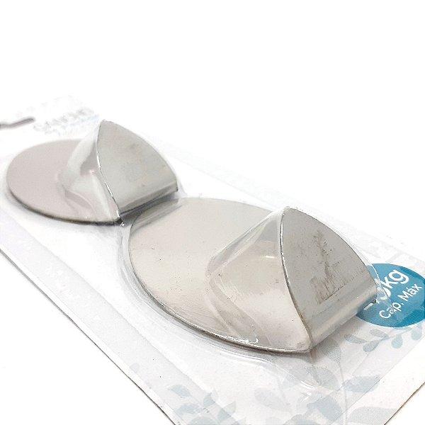 Embalagem Com 2 Ganchos Oval de Parede Auto Adesivo - Clink