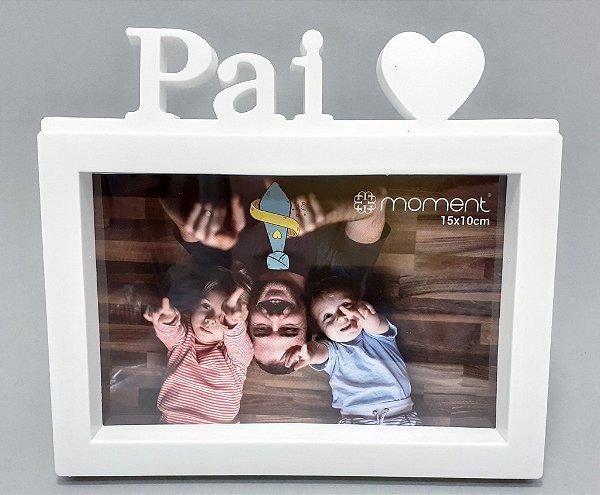 Porta Retrato De Plástico Para Mesa Temático Pai - Branco