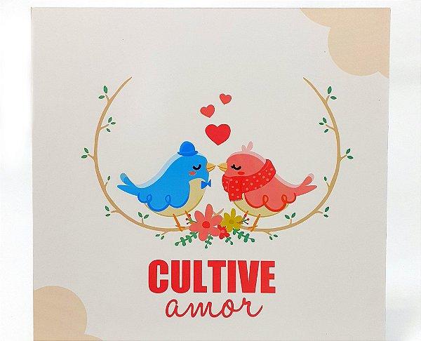 Quadro Decorativo Em MDF - Temático Frases Cultive Amor