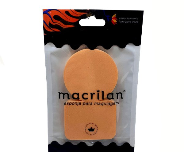 Embalagem Com 2 Esponjas Para Maquiagem Salmão - Macrilan