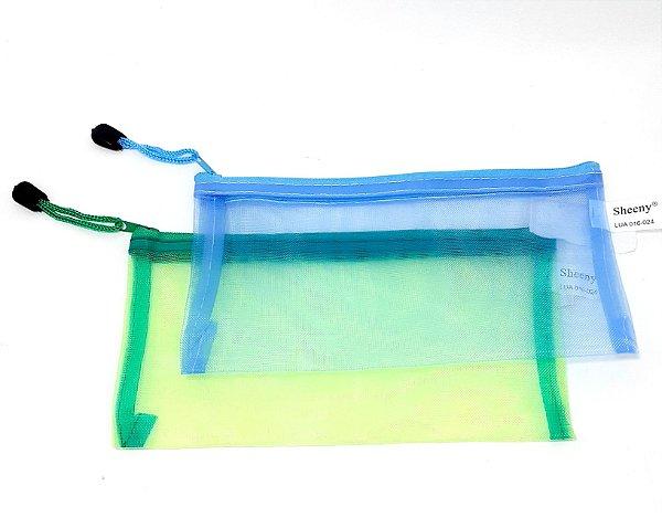 Necessaire Porta Objetos Pequena Com Zíper Furadinha - Colorido
