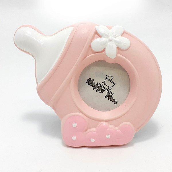 Porta Retrato De Porcelana Para Mesa - Baby Rosa